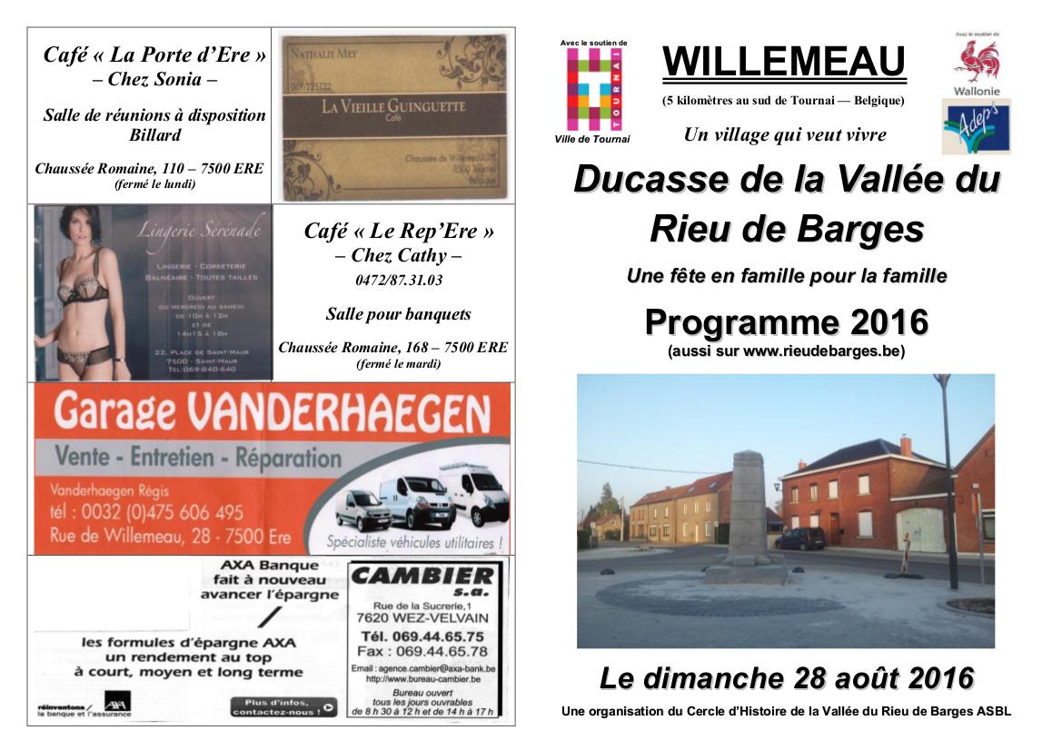 Toutes-boîtes - Programme 2016 Ducasse de WILLEMEAU + PUBS + Logos - 29.05.16